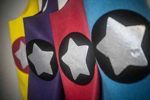 toddler superhero capes for birthday party favors